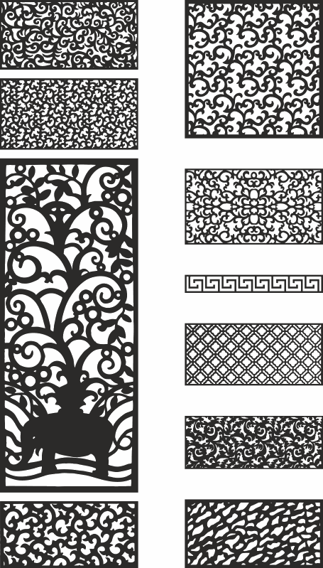 Laser Cut Template Collection Free CDR Vectors Art