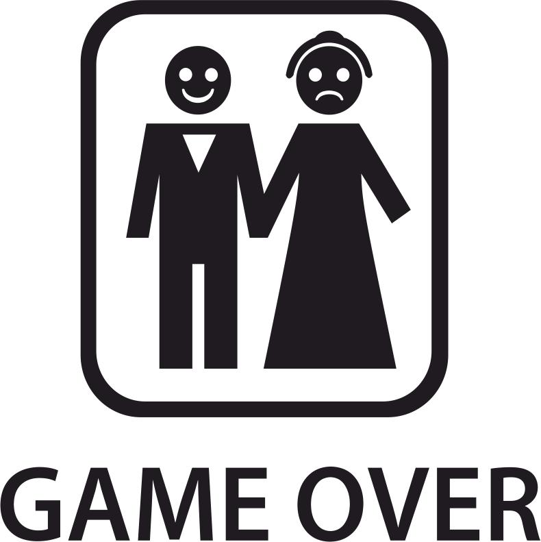 Game Over Sticker Free CDR Vectors Art