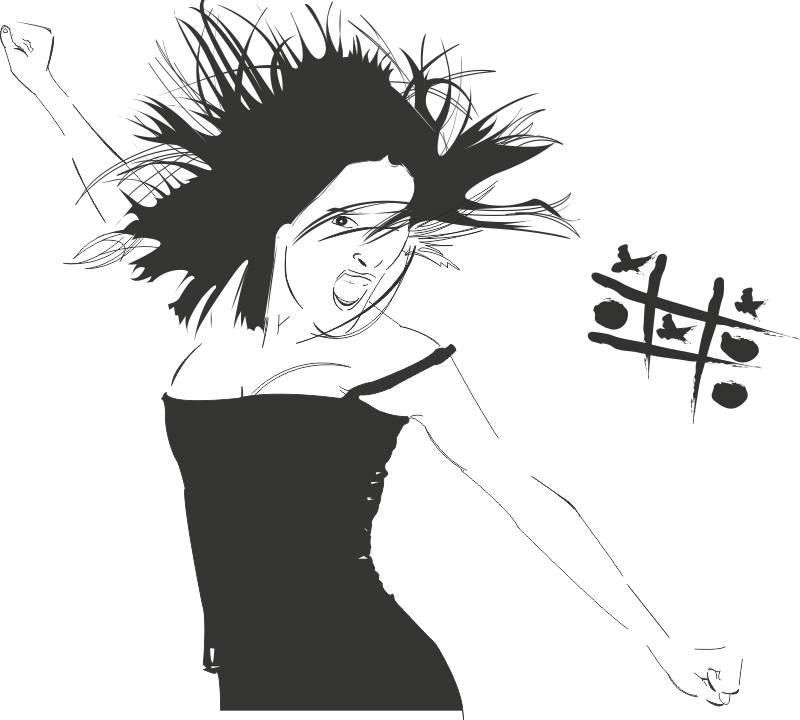 Wall Sticker Woman Free CDR Vectors Art