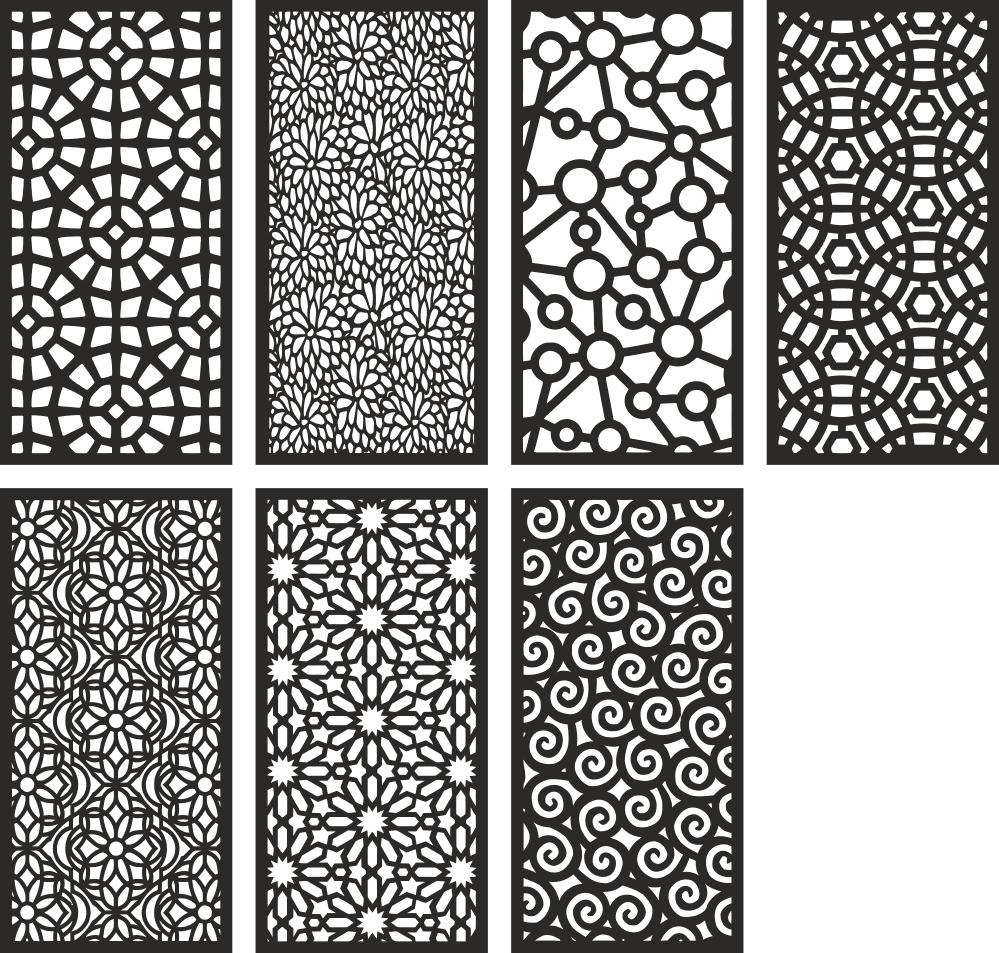Geometric Motifs Repeating Pattern Free CDR Vectors Art
