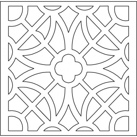 Cnc Panel Laser Cut Pattern File cn-l607 Free CDR Vectors Art