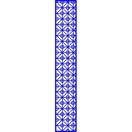 Cnc Panel Laser Cut Pattern File cn-l606 Free CDR Vectors Art