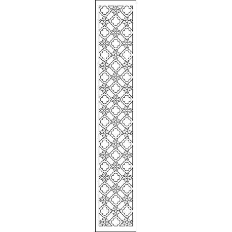 Cnc Panel Laser Cut Pattern File cn-l590 Free CDR Vectors Art