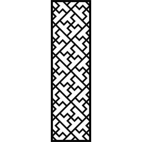 Cnc Panel Laser Cut Pattern File cn-l581 Free CDR Vectors Art