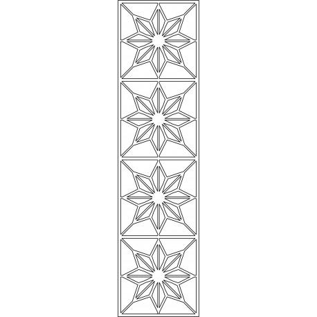 Cnc Panel Laser Cut Pattern File cn-l534 Free CDR Vectors Art