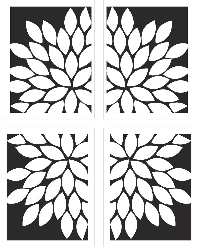 White Floral Artwork Free CDR Vectors Art