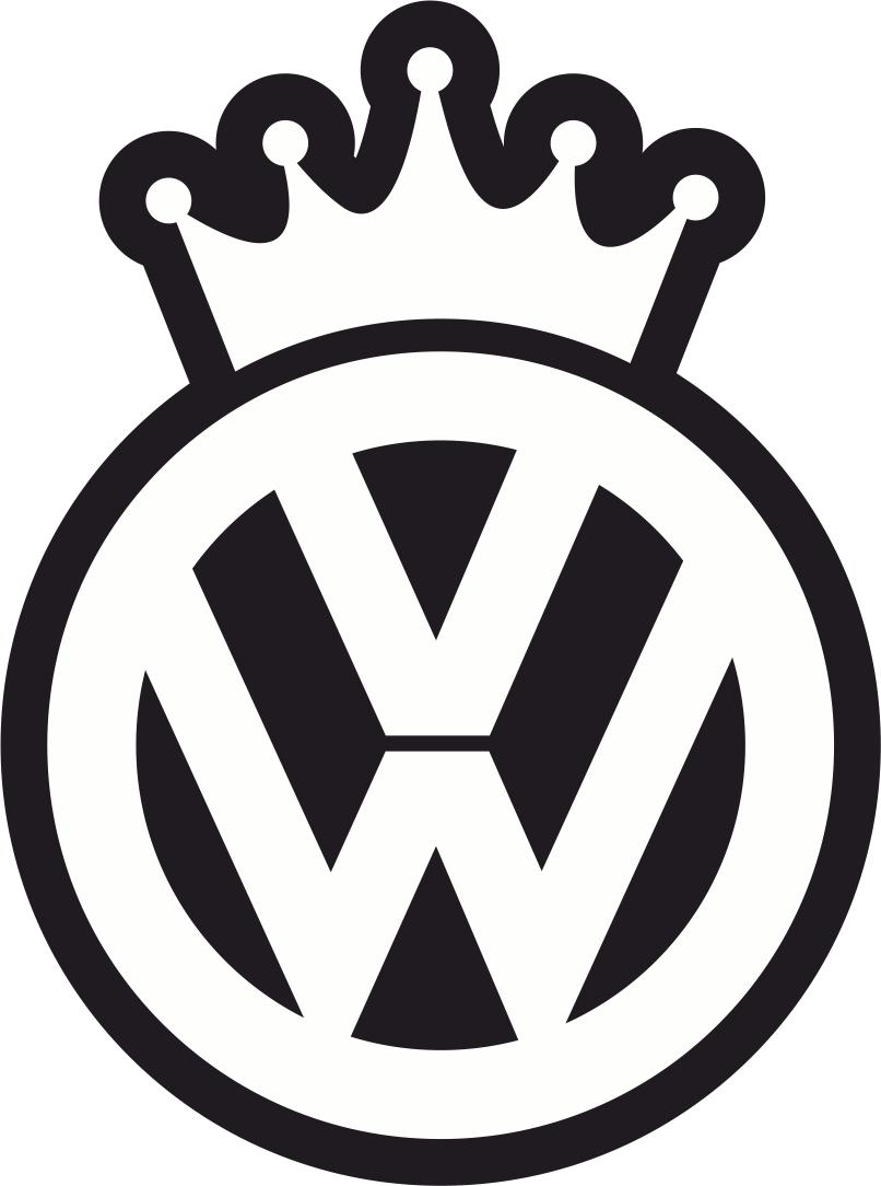 VW King Decal Sticker Free CDR Vectors Art