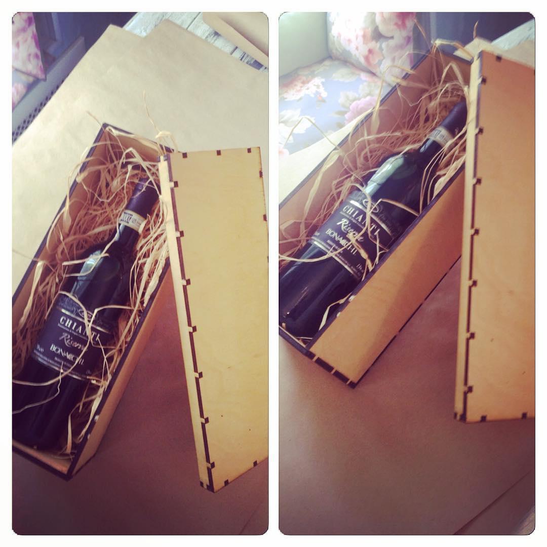 Bottle Wooden Storage Box Korobka Free CDR Vectors Art