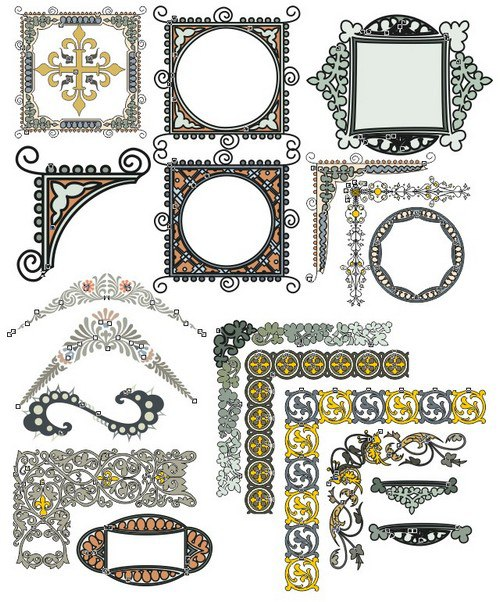 Collection Of Corners And Frames Rama Free CDR Vectors Art
