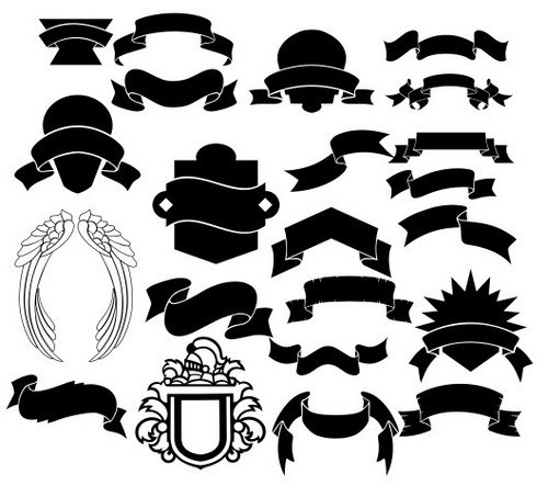 Collection Of Ribbons Forml Formy Free CDR Vectors Art