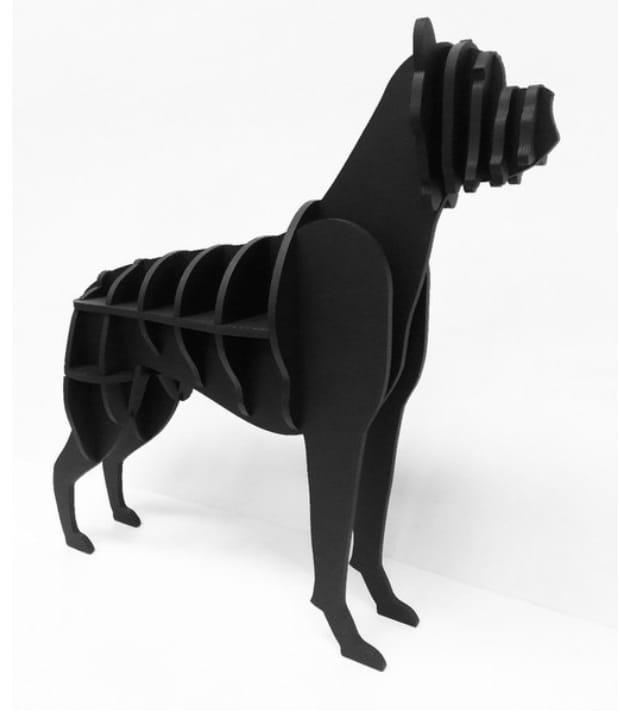 Dog Boxer Bookshelf Design For Laser Cnc Free CDR Vectors Art