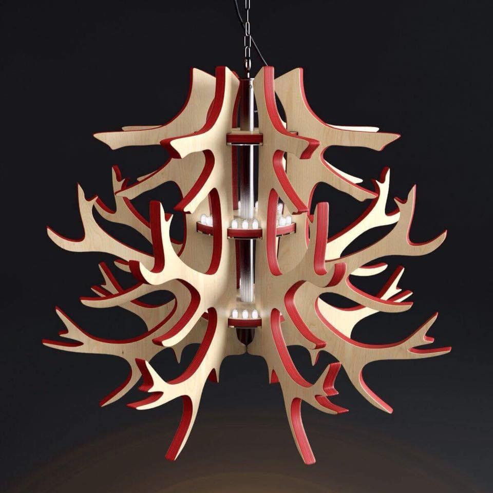 Lamp Wooden Tree Design Free CDR Vectors Art