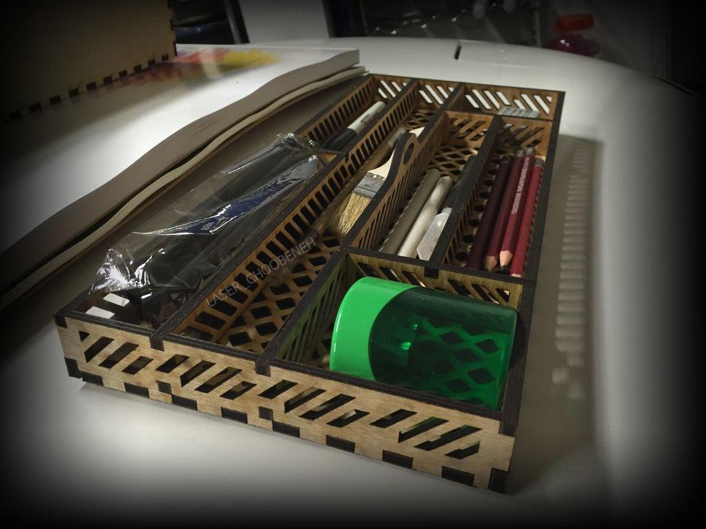 Laser Cut Geometry Box Wooden Free CDR Vectors Art