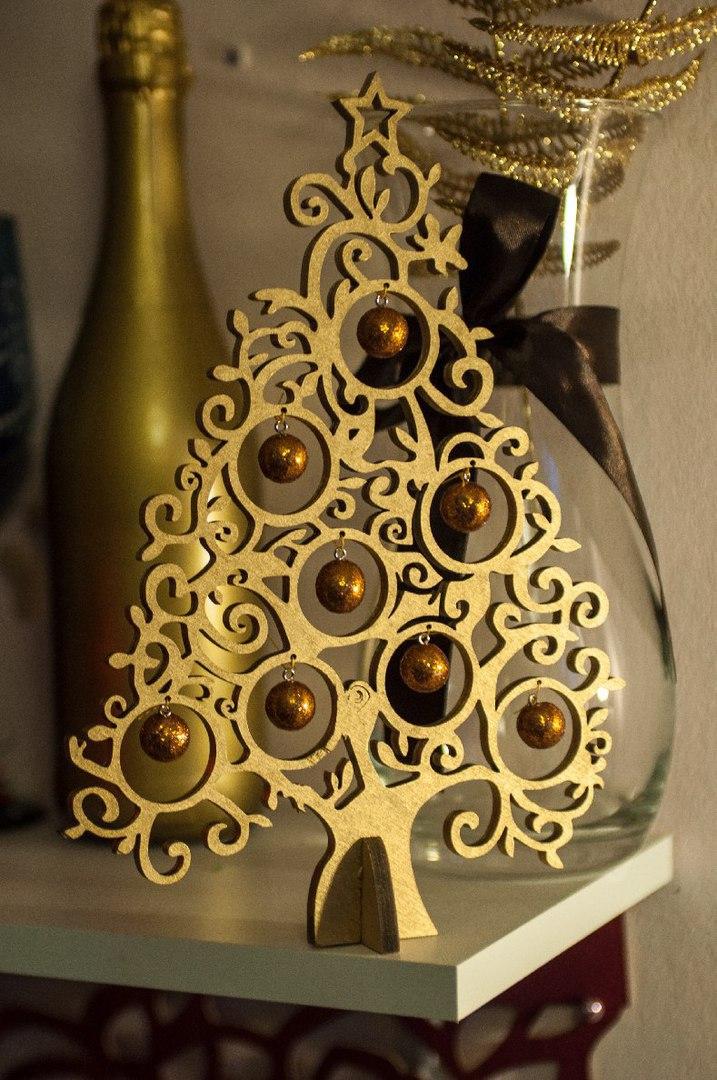 Laser Cut Tree Design Metal Elka Iz Dereva Free CDR Vectors Art