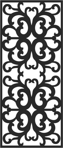 Scroll saw vector pattern Free CDR Vectors Art