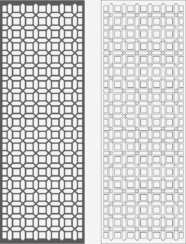 Geometric Decorative Grille Free CDR Vectors Art