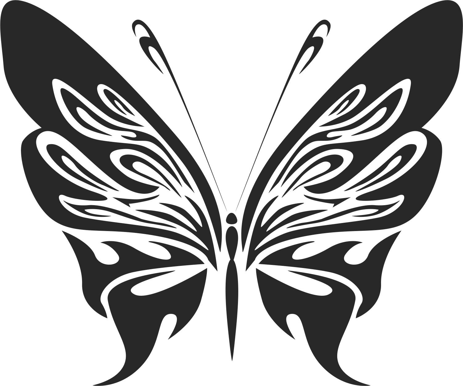 Butterfly Silhouette Sticker 222 Free CDR Vectors Art