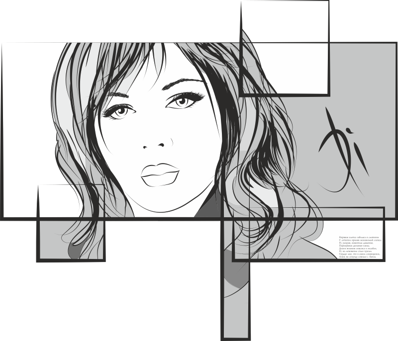 Woman Face Drawing Free CDR Vectors Art