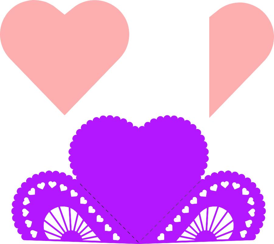 Heart Fold Card Free CDR Vectors Art