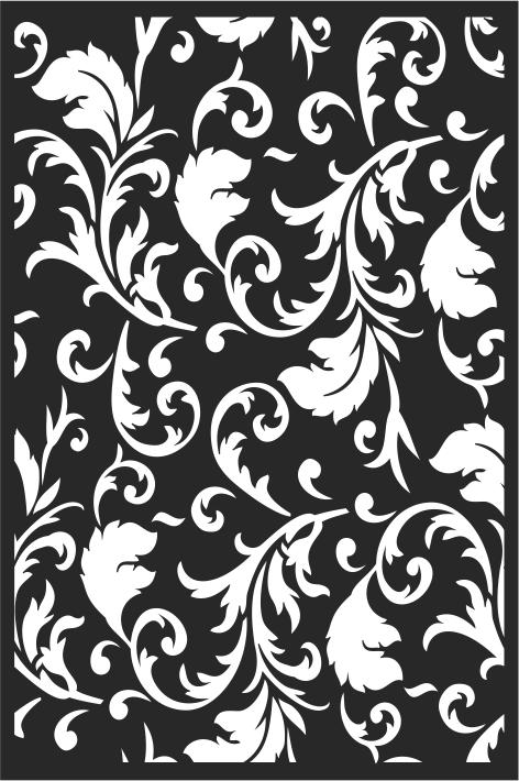 Decorative vintage floral pattern Free CDR Vectors Art