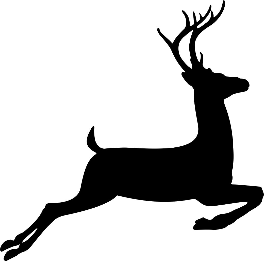 Running Deer Stencil Free CDR Vectors Art