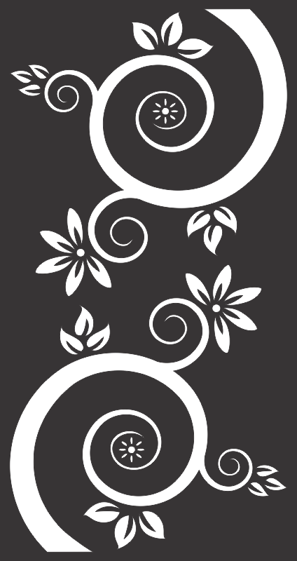 Vector Flowers And Swirls Black Free CDR Vectors Art