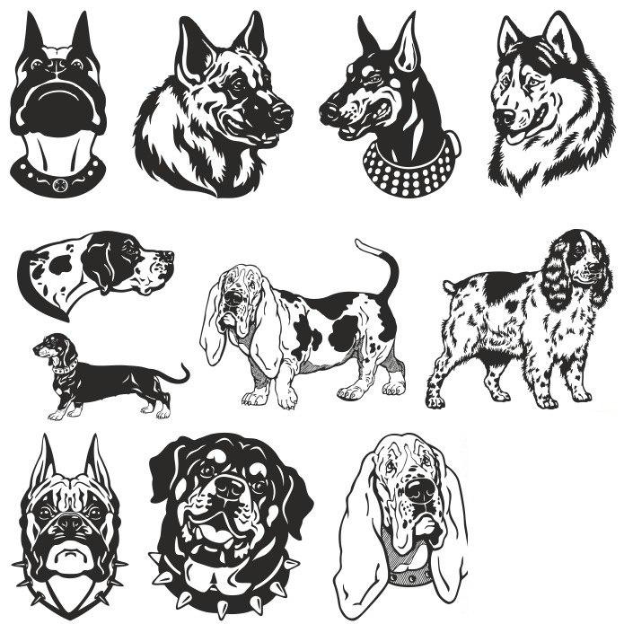 Sobaki 2018 Dog Images Free CDR Vectors Art