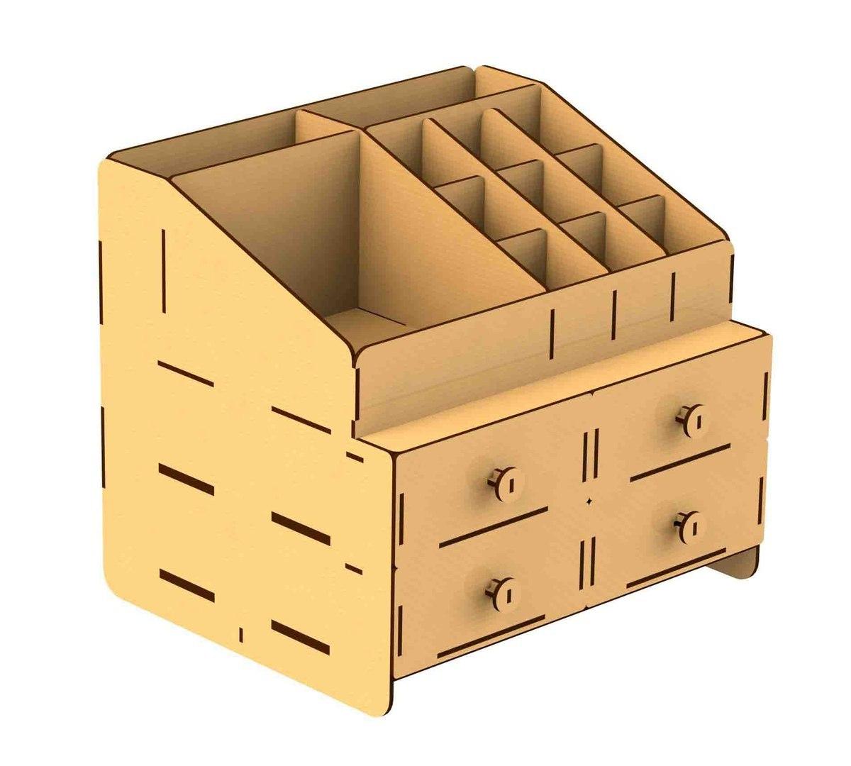 Somod Wooden Storage Box Laser Cut Free CDR Vectors Art