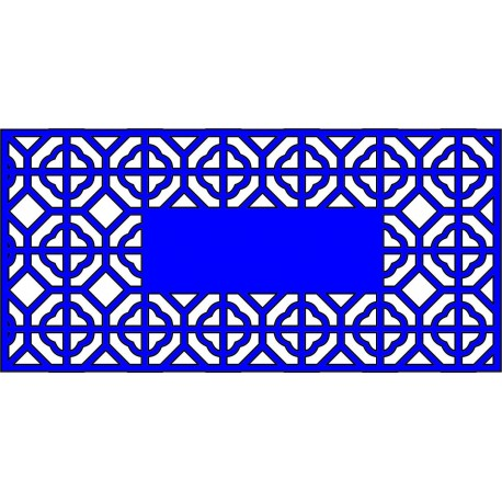 Cnc Panel Laser Cut Pattern File cn-l488 Free CDR Vectors Art