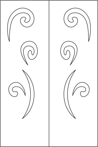 Elegant Wardrobe Door Design Free CDR Vectors Art