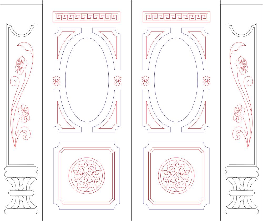 Panel Designs Free CDR Vectors Art
