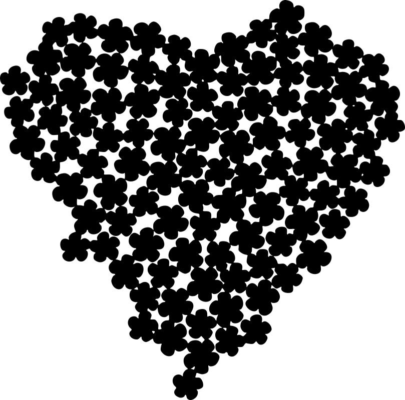 Posy Heart Free CDR Vectors Art