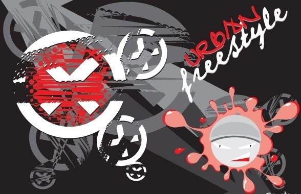 Urban Free Style Vector Composition Free CDR Vectors Art