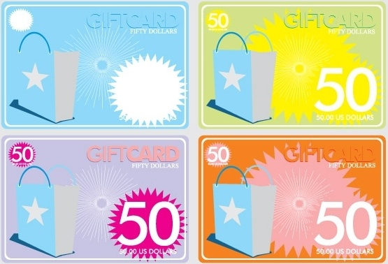 Gift Cards Free CDR Vectors Art