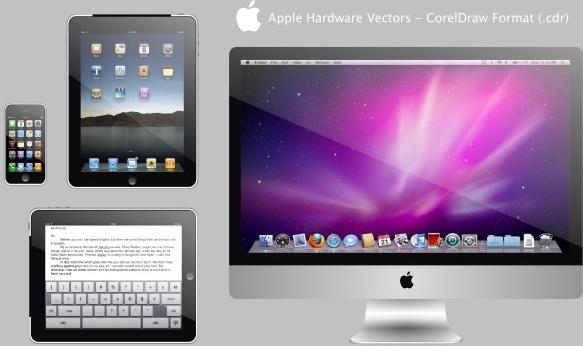 Apple Hardware Free CDR Vectors Art