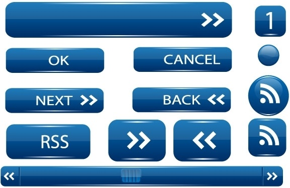 Vector UI buttons Free CDR Vectors Art