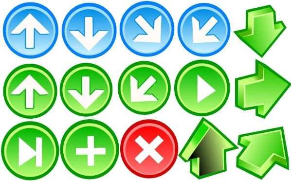 Arrow Icons Free CDR Vectors Art