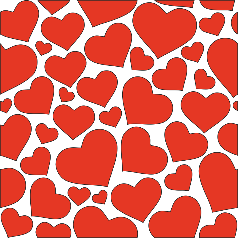 Hearts seamless pattern clipart Free CDR Vectors Art