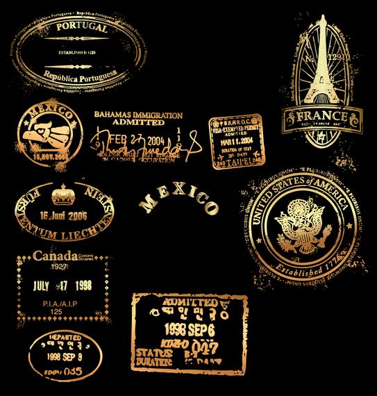 Classic Gold Imprint Free CDR Vectors Art