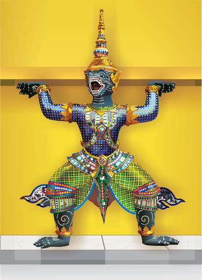 Thailand Statues Material Free CDR Vectors Art