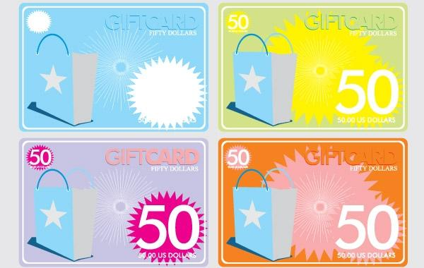 Gift Cards 50 Free CDR Vectors Art