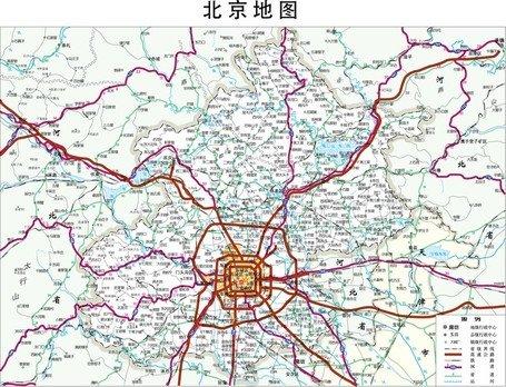 Beijing Map Free CDR Vectors Art
