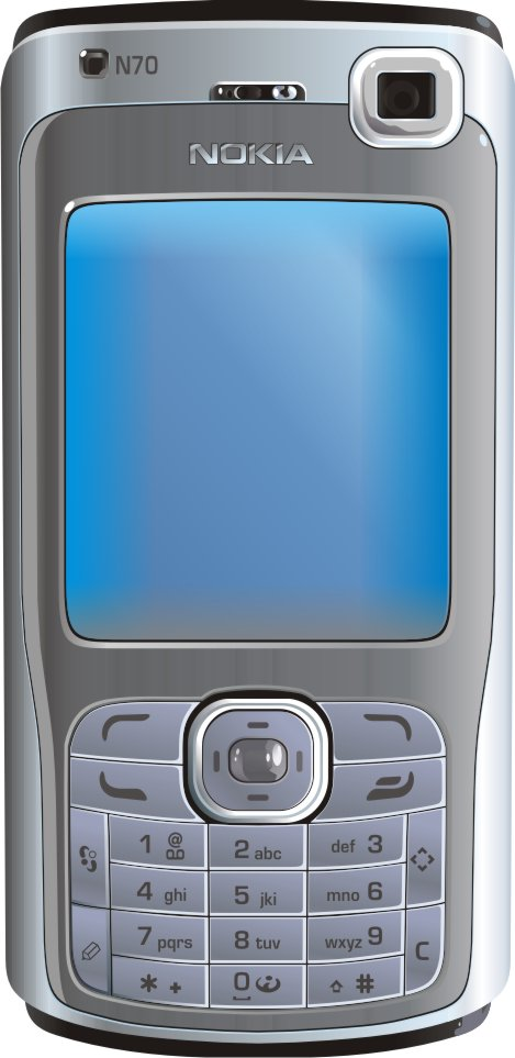 Mobile Phone Clipart Nokia Free CDR Vectors Art
