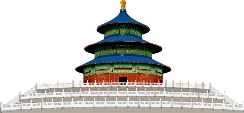 Temple Of Heaven Free CDR Vectors Art