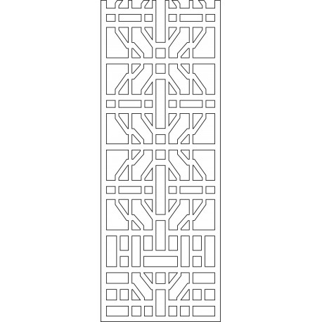 Cnc Panel Laser Cut Pattern File cn-l426 Free CDR Vectors Art