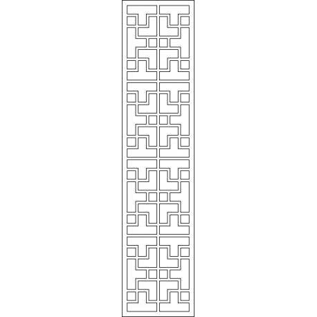 Cnc Panel Laser Cut Pattern File cn-l422 Free CDR Vectors Art