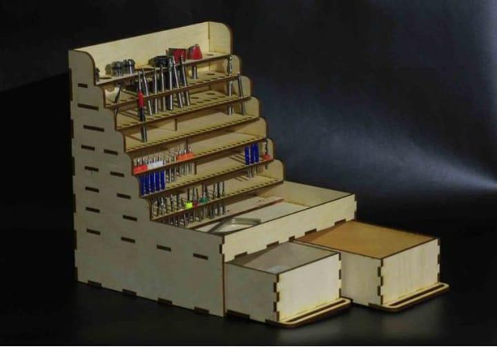 Frezy Wooden Shelf Free CDR Vectors Art