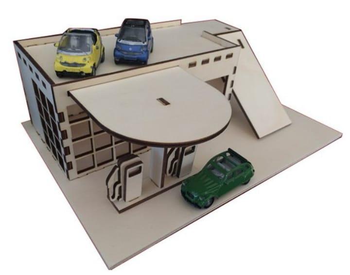 Gas Station Model Free CDR Vectors Art