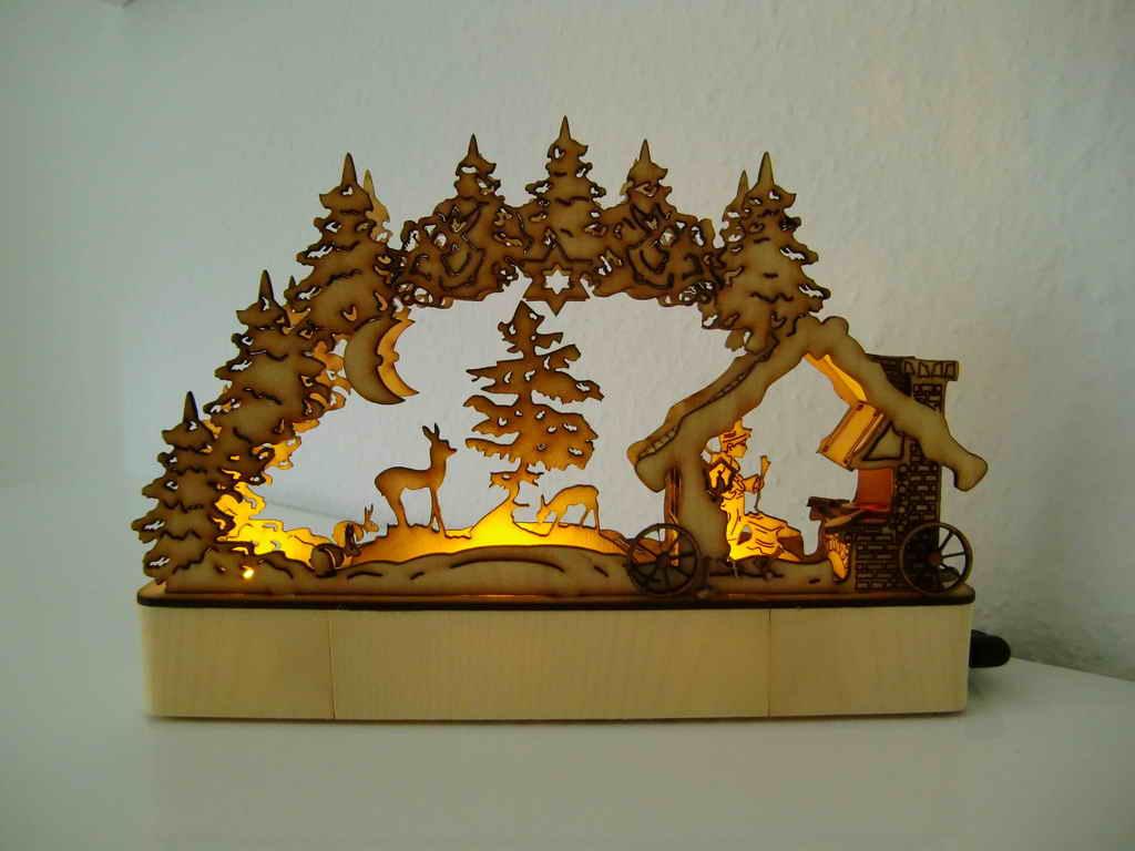 Candle Arch Schwibbogen Schmiede Free CDR Vectors Art