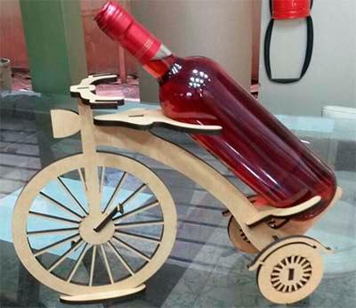 Laser Cut Wooden Bicycle Podstavka Free CDR Vectors Art